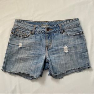 Bluenotes distressed light blue shorts